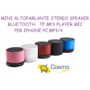 MINI CASSA AMPLIFICATA BLUETOOTH SOUND ECCELLENTE INGRESSO SD CARD