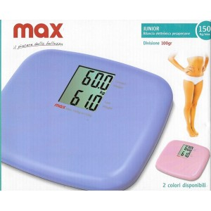 BILANCIA PESAPERSONE MISURA PESO DISPLAY DIGITALE JUNIOR MAX 150KG