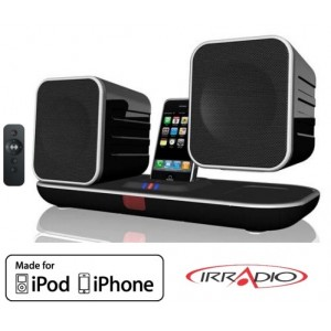 Sistema audio con dock per iPod/iPhone e diffusori wireless I-CONNECT