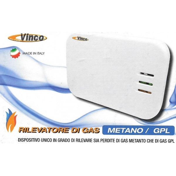 Rivelatore di GAS (Metano/GPL) VINCO